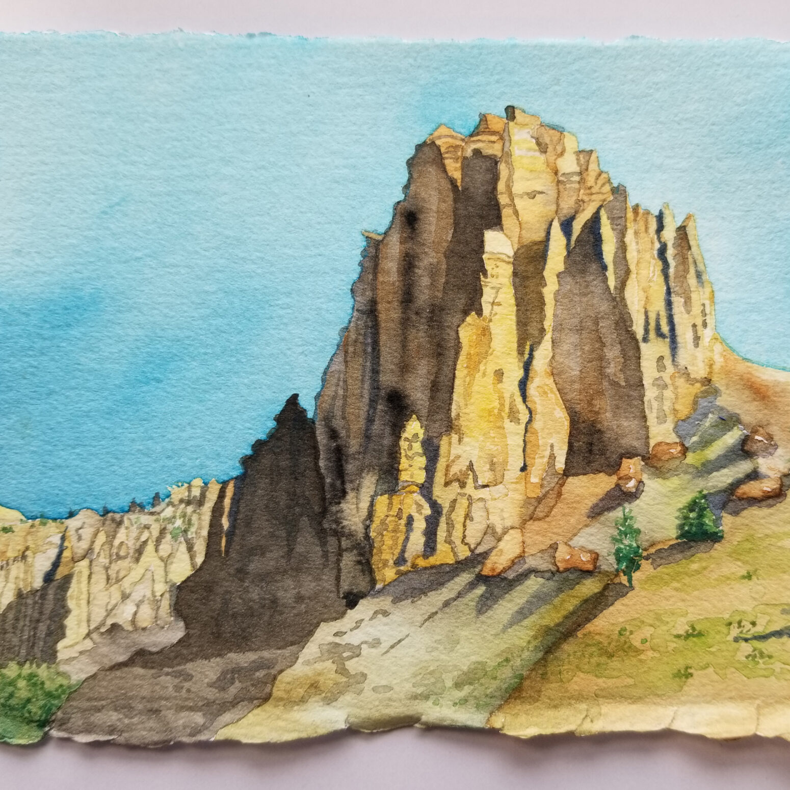 Yellowstone Tor (Yellowstone NP), 2021, watercolor on paper